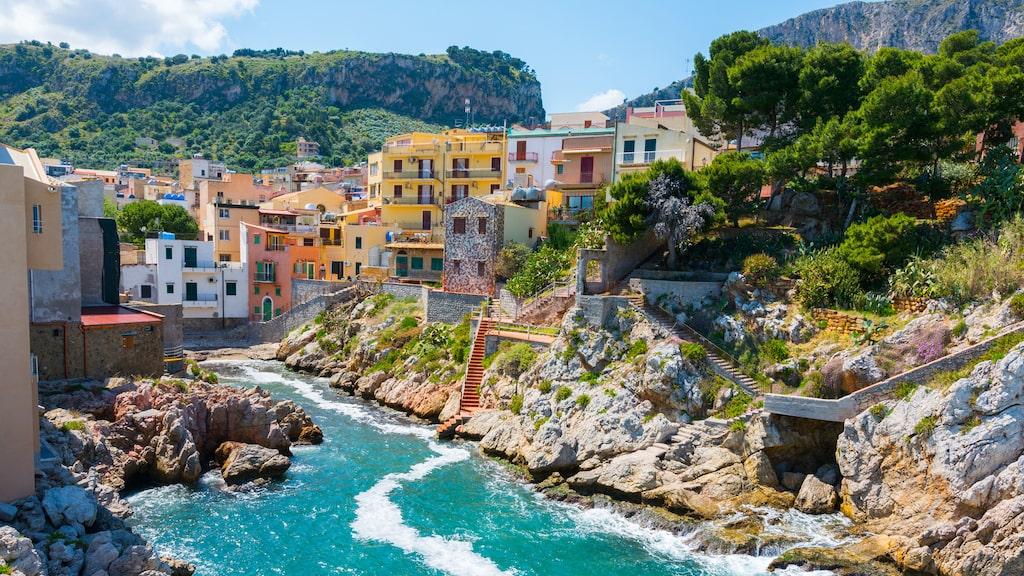 Santa Flavia, en liten vacker by nära Palermo.