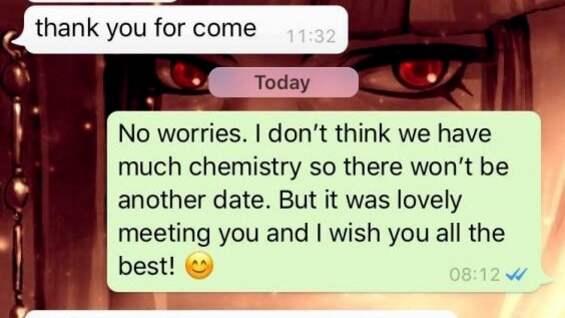 Skriva sms efter första dejten