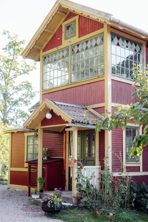 Huset som ligger i Österåker är på 154 kvadratmeter.