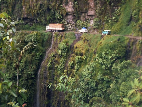 Noth Yungas Road, Bolivia.