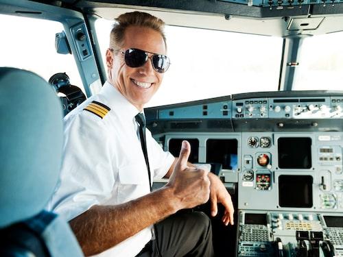 Den utsikt man har att jobba med som pilot är svårslagen.