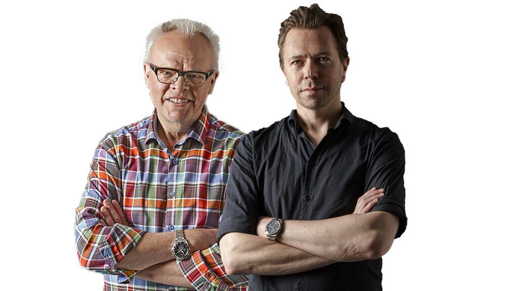 Vinredaktörerna Håkan Larsson och Andreas Grube.