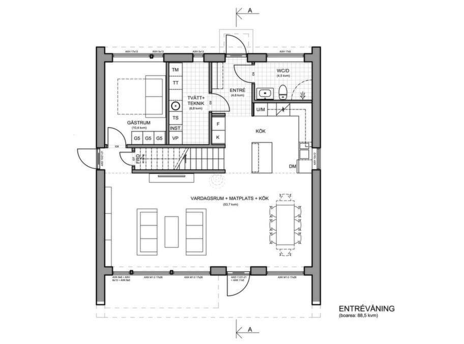 Fakta<br>Namn: Nordiska hus 3.2<br>Typ: 2-planshus med sex rum och kök på 176,3 kvadratmeter.<br>Pris: 3 600 000 kronor. 20 420 kronor kvadratmetern.<br>Husföretag: Nordiska hus nordiskahus.com