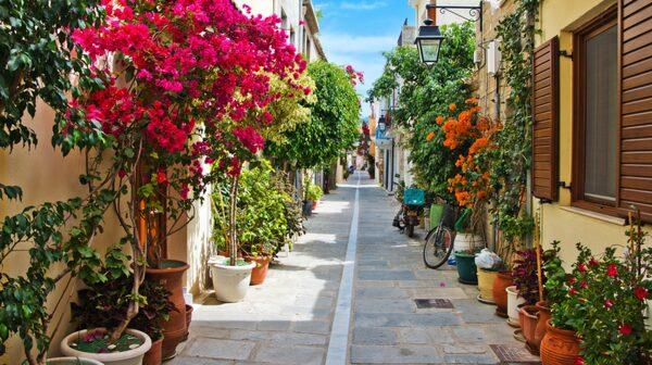 Fiskestaden Rethymnon på Kreta är känd för sin arkitektur.