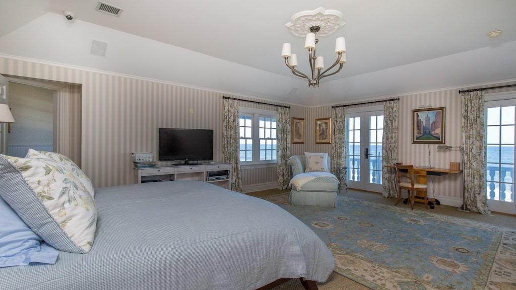 Ett av de åtta sovrummen...