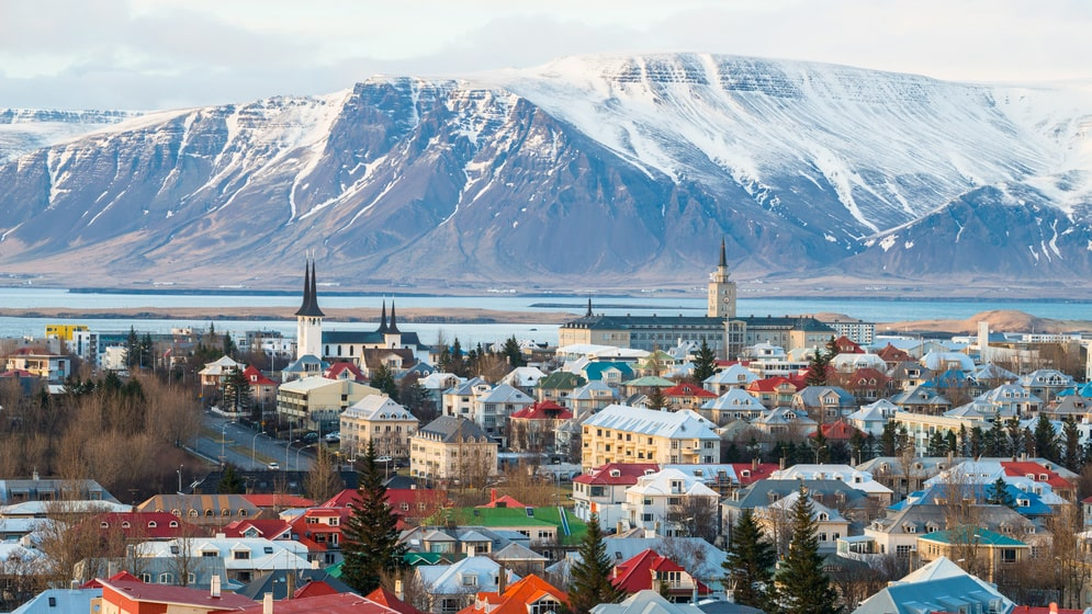 Islands huvudstad Reykjavik är en av de säkraste platserna i världen att resa till, enligt International SOS.