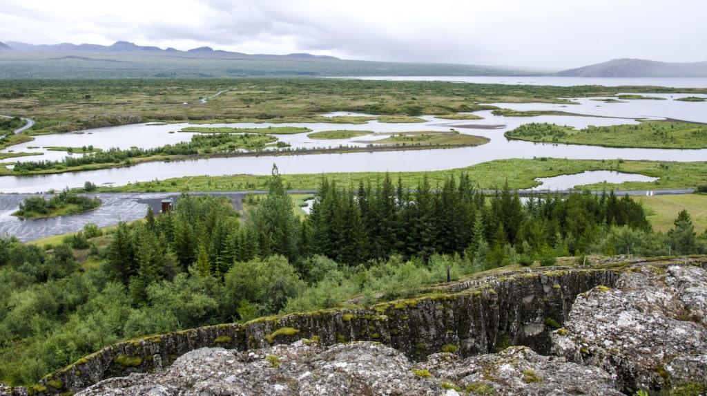 Såhär brukar det se ut vid nationalparken Thingvellir på Island...