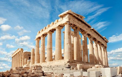 Parthenon-templet på Akropolis.