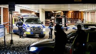 Polisjakt efter bankran i hallonbergen