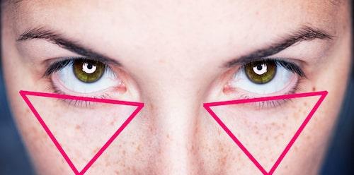 Applicera den uppljusande concealern i form av en trekant.