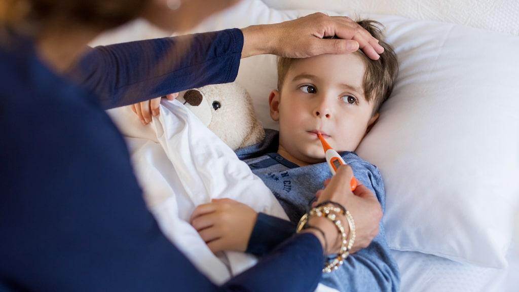 Barn är känsligare än vuxna och när det blir sjuka kan symtomen förstärkas.