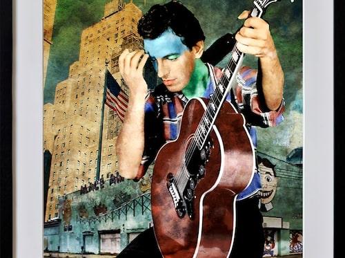 Bruce Springsteen. Per Siwmark  är noga med att inte välja välkända bilder på sina idoler innan han börjar teckna av det svartvita fotografiet som är hans utgångspunkt.