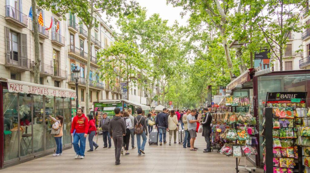 <p>La Rambla i Barcelona.</p>
