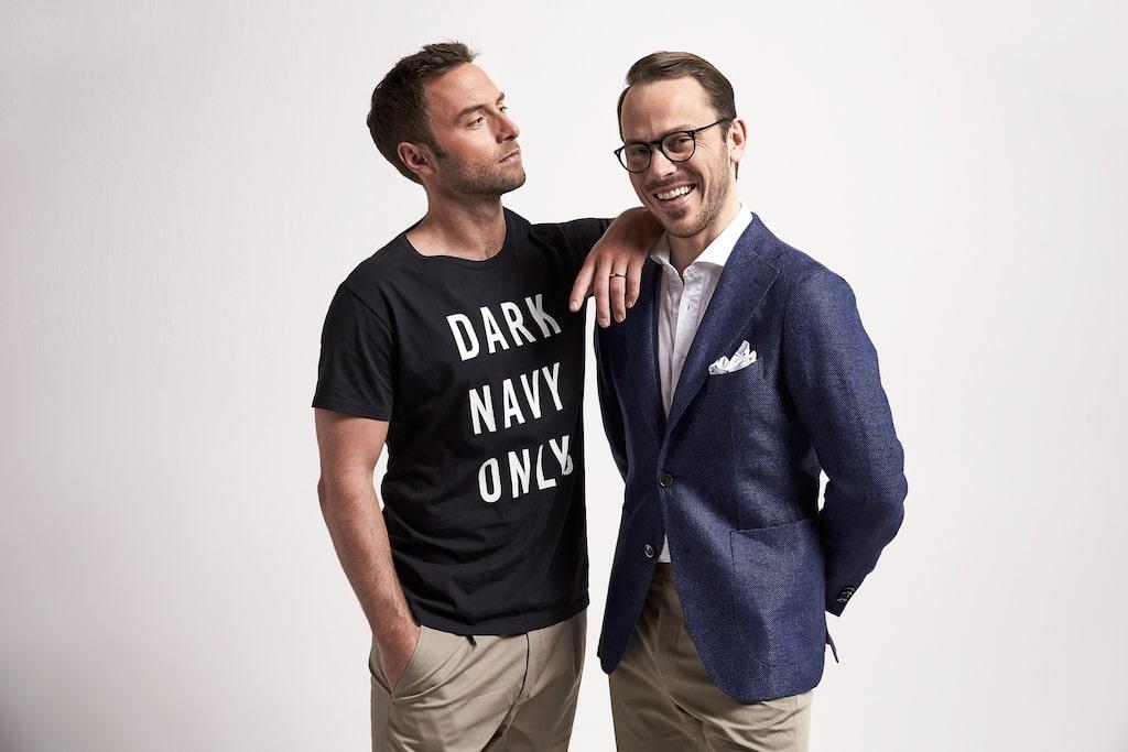 Nu lanserar Ellos nytt klädsamarbete ihop med Måns Zelmerlöw och Alexander Wiberg.