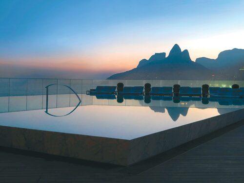 Hotel Fasano Rio de Janeiro ligger nära den legendariska stranden Ipanema.