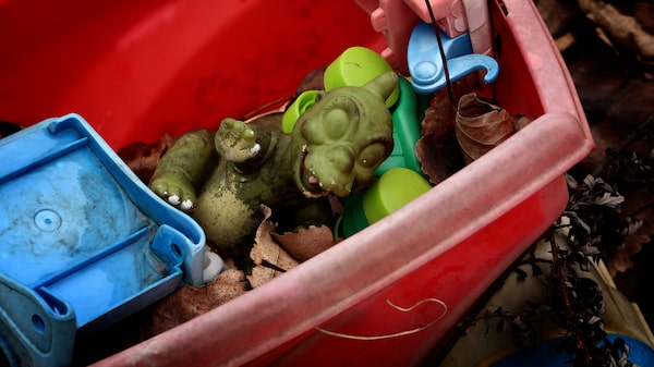 Välanvända leksaker.