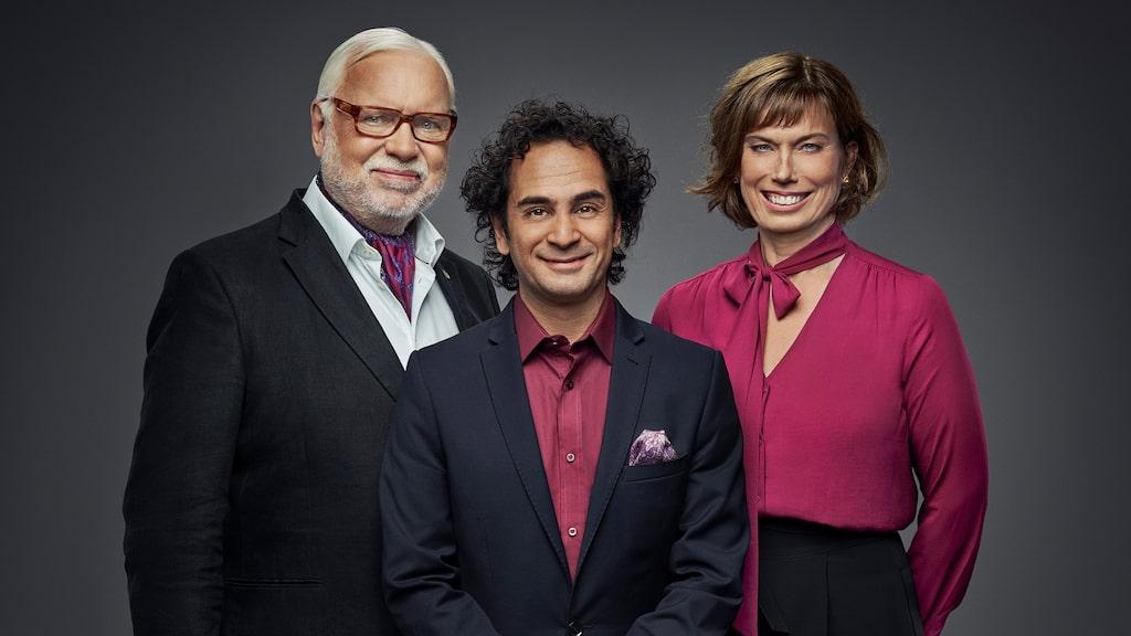 Här tillsammans med Leif Mannerström och Markus Aujalay.